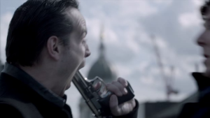 """Understanding James """"Jim"""" Moriarty: How he can help us succeed in life (Part 2) http://vlnresearch.com/understanding-james-jim-moriarty-how-he-can-help-us-succeed-in-life-part-2 Jim Moriarty gun suicide with Sherlock image"""