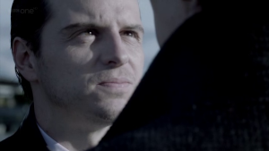 """Understanding James """"Jim"""" Moriarty: How he can help us succeed in life (Part 2) http://vlnresearch.com/understanding-james-jim-moriarty-how-he-can-help-us-succeed-in-life-part-2 Jim Moriarty stares with Sherlock image"""