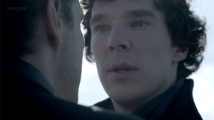"""Understanding James """"Jim"""" Moriarty: How he can help us succeed in life (Part 2) http://vlnresearch.com/understanding-james-jim-moriarty-how-he-can-help-us-succeed-in-life-part-2 Sherlock and Moriarty staring image"""