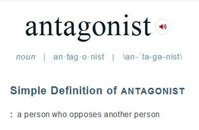 Villains vs Antagonists: A field guide - http://vlnresearch.com/villains-vs-antagonists - antagonist definition merriam webster