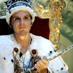 Jim Moriarty in a crown in Sherlock image