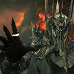dark lord Sauron lord of the rings in mordor in armor image