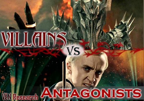 Villains vs Antagonists: A field guide - http://vlnresearch.com/villains-vs-antagonists villains vs antagonists image