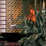 Sauron villain matrix stats from Lod of the Rings Hobbit Silmarillion