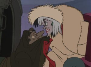 Cruella De Vil 101 Dalmatians mad at henchman