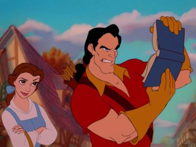 Disney's Gaston can't read