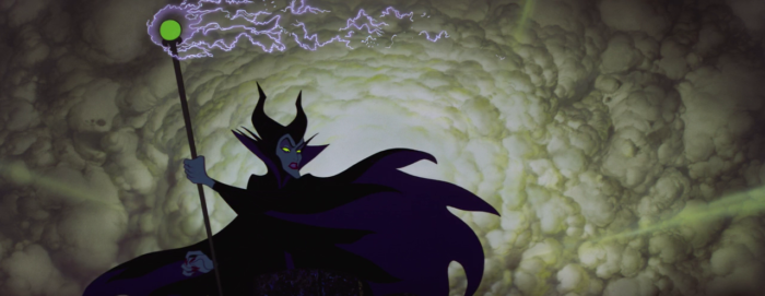 Sleeping Beauty - Maleficent - clouds and staff