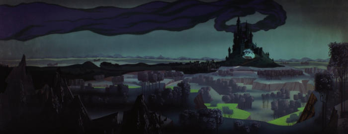 Sleeping Beauty - Maleficent - clouds over castle