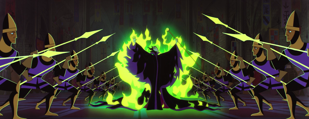 Sleeping Beauty - Maleficent - exit