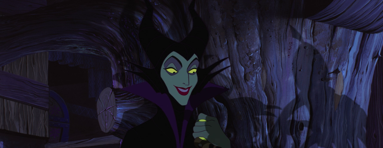 Sleeping Beauty - Maleficent - happy in cottage