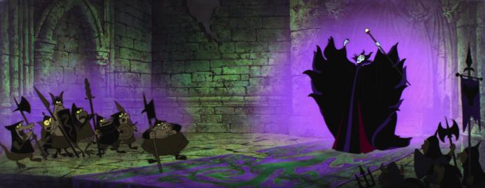 Sleeping Beauty - Maleficent - idiots in purple