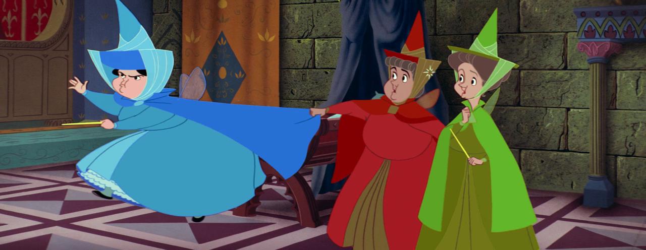 Sleeping Beauty - Maleficent - rabble fairies
