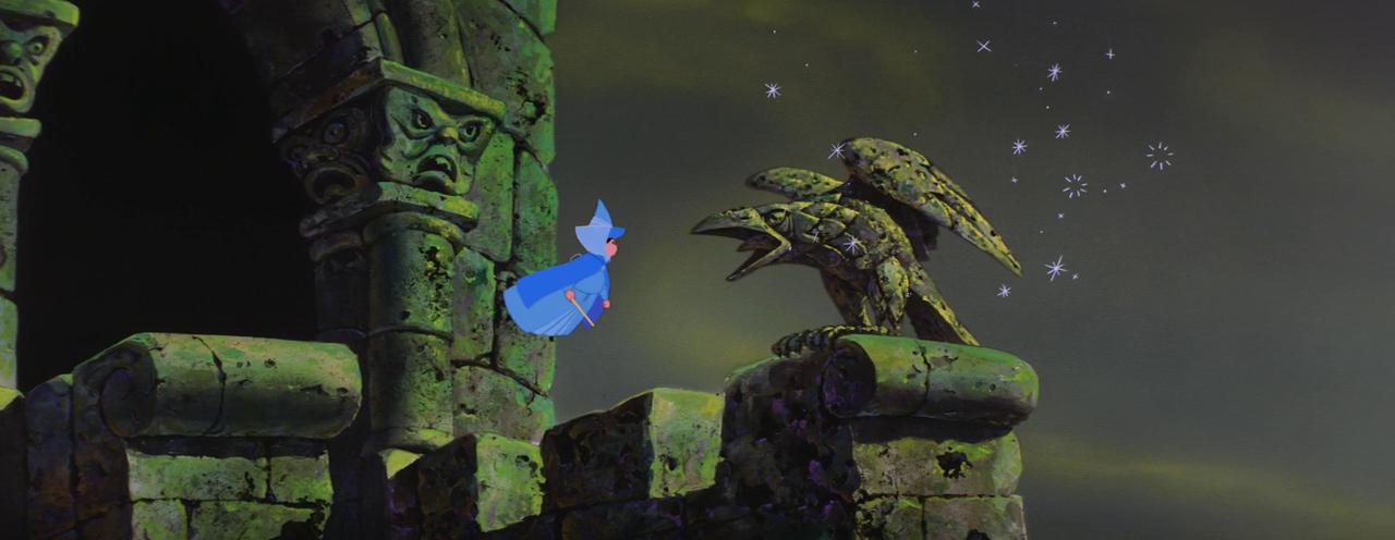 Sleeping Beauty - Maleficent - stone Diaval