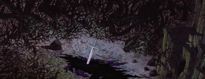 Sleeping Beauty - Maleficent - sword end