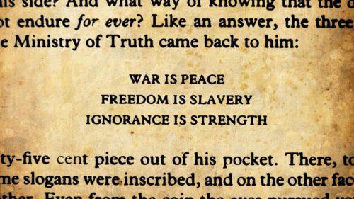 War-is-peace orwell 1984