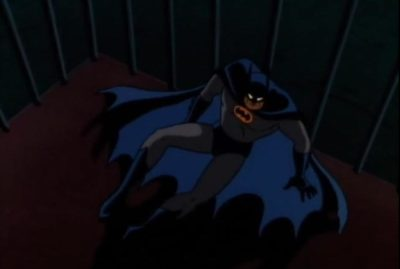 Batman the Animated Series Killer Croc Sideshow Batman caged