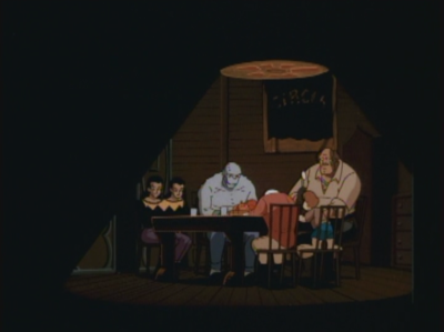 Batman the Animated Series Killer Croc and Carnival people