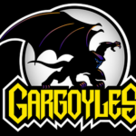 Disney Gargoyles logo with Goliath
