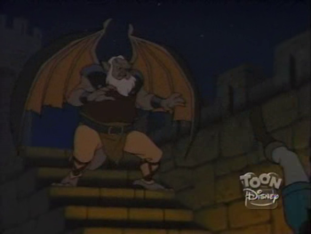 disney-gargoyles-awakening-1-hudson-fights