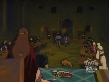 disney-gargoyles-awakening-1-dog-on-great-hall