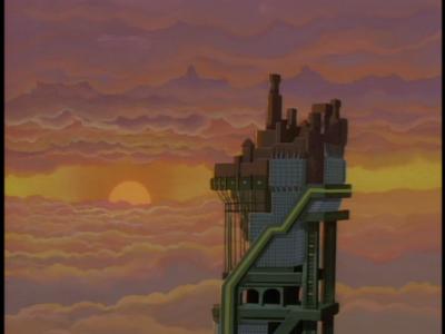 disney-gargoyles-awakening-part-2-image-eyrie-building-side-view-with-sunset