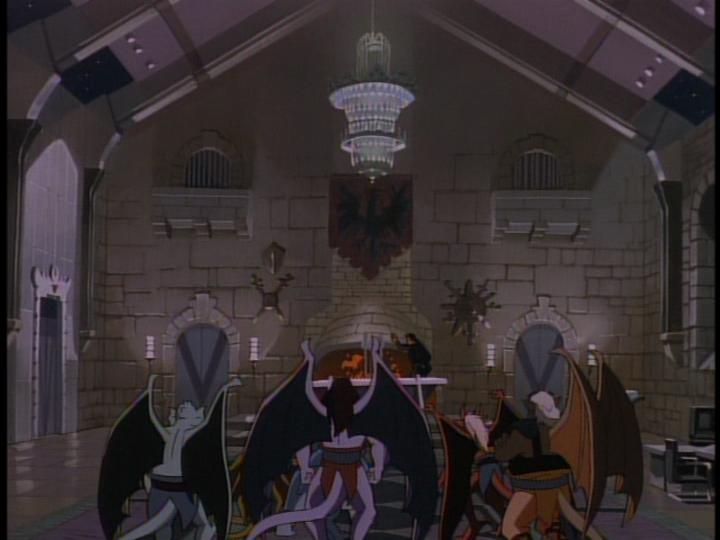 disney-gargoyles-awakening-part-2-image-inside-great-hall-with-clan-and-xanatos