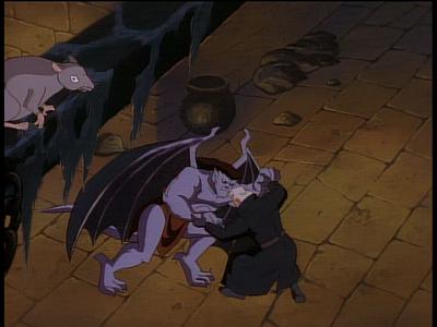 disney-gargoyles-enter-macbeth-macbeth-goliath-fight-rat