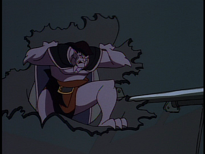 disney-gargoyles-the-thrill-of-the-hunt-goliath-tears-through-metal-wall