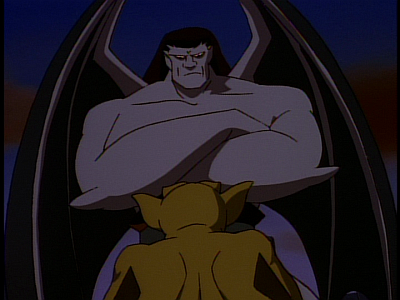 disney-gargoyles-the-thrill-of-the-hunt-lex-and-goliath-argue