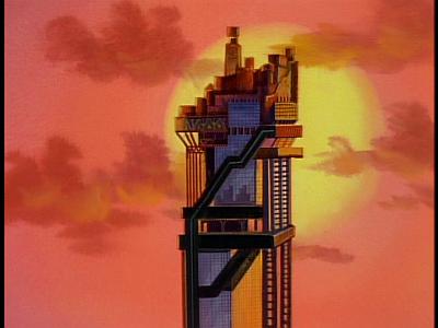 disney-gargoyles-thrill-of-the-hunt-eyrie-building-sunset