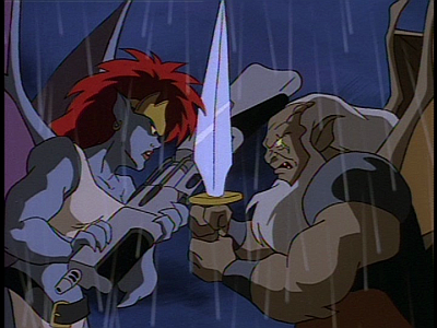 Disney Gargoyles - Long Way To Morning - demona hudson fight close