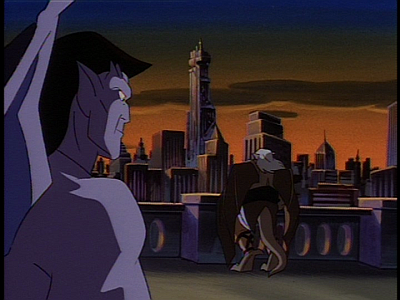Disney Gargoyles - Long Way To Morning - goliath hudson look at eyrie building