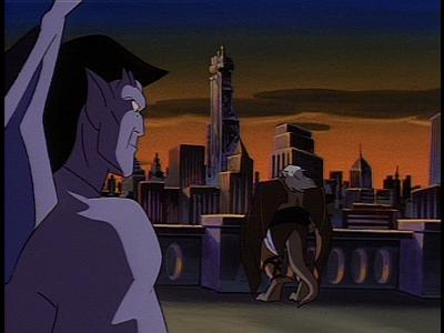 Disney Gargoyles - Long Way To Morning - goliath hudson look at eyrie building
