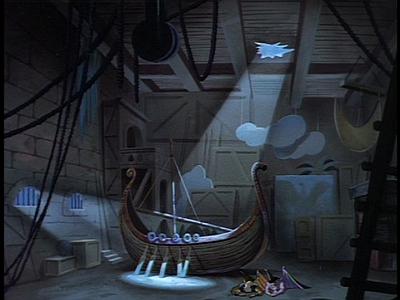 Disney Gargoyles - Long Way To Morning - opera house viking ship