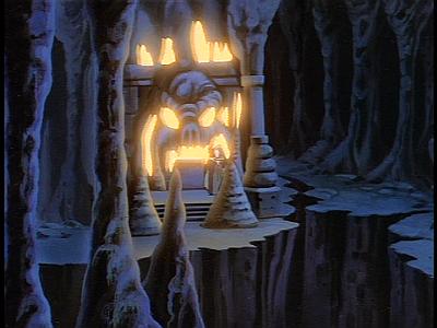 Disney Gargoyles - Long Way To Morning - skull cave archmage