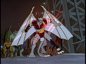 Disney Gargoyles - Reawakening - coldstone takes laser blast