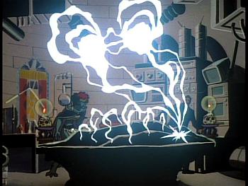 Disney Gargoyles - Reawakening - electricity into colstone with xanatos and demona