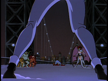 Disney Gargoyles - Reawakening - elisa arrives to help clan