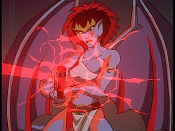 Disney Gargoyles - Reawakening - xanatos shoots demona's laser rifle