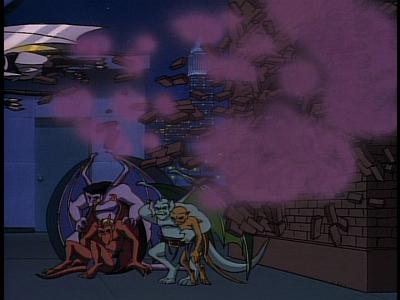 Disney Gargoyles - The Edge - steel clan drop bricks