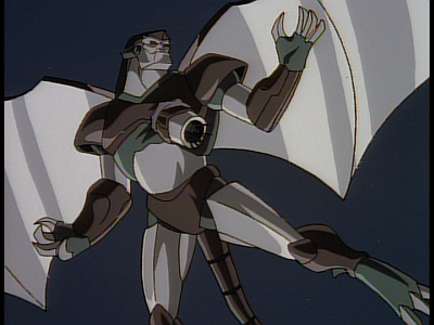 Disney Gargoyles - The Edge - steel clan robot speared