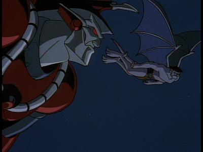 Disney Gargoyles - The Edge - xanatos and goliath dogfight 2