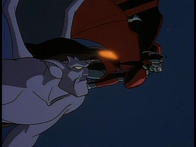 Disney Gargoyles - The Edge - xanatos and goliath dogfight