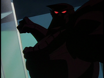 Disney Gargoyles - The Edge - xanatos in steel clan exo armor punching