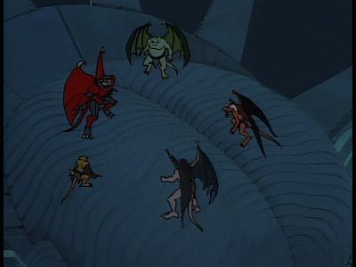 Disney Gargoyles - The Edge - xanatos surrounded