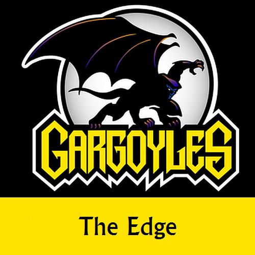 Disney Gargoyles logo with Goliath the edge