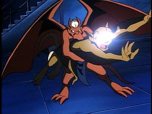 Disney Gargoyles - Leader of the Pack - brooklyn holds lexington back