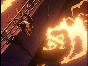 Disney Gargoyles - Leader of the Pack - brooklyn slides off ship