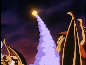 Disney Gargoyles - Leader of the Pack - coyote's head blasts off