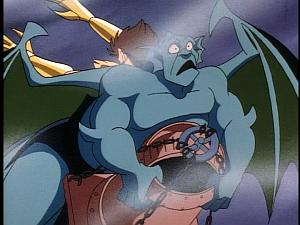 Disney Gargoyles - Leader of the Pack - hyena crashes into broadway